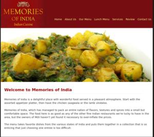 Memories of India Cuisine