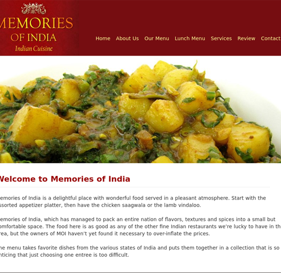 Memories of India Cuisine